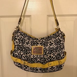 Yellow/Black/White Shoulder Purse
